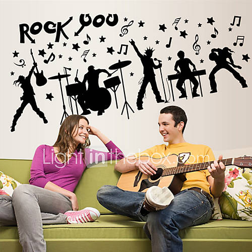 Wall Stickers Wall Decals Style Creative Rock PVC Wall Stickers