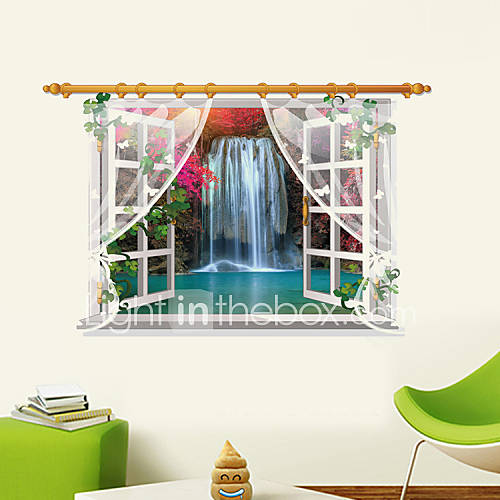 3D Wall Stickers Wall Decals Style Waterfall PVC Wall Stickers