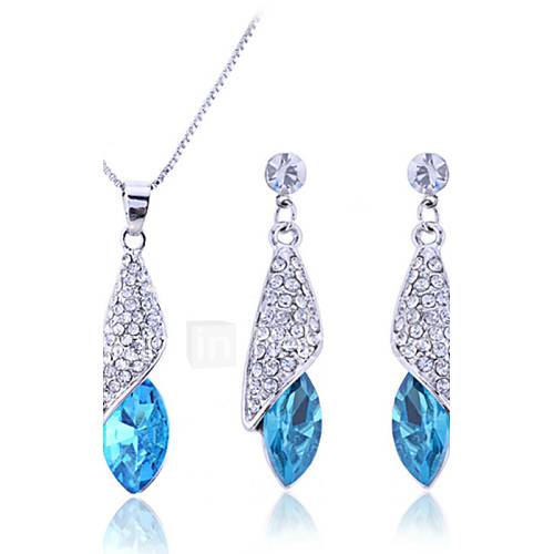 Women's Jewelry Set Drop Earrings Pendant Necklace Bridal Elegant Fashion Wedding Party Anniversary Birthday Gift Synthetic Gemstones