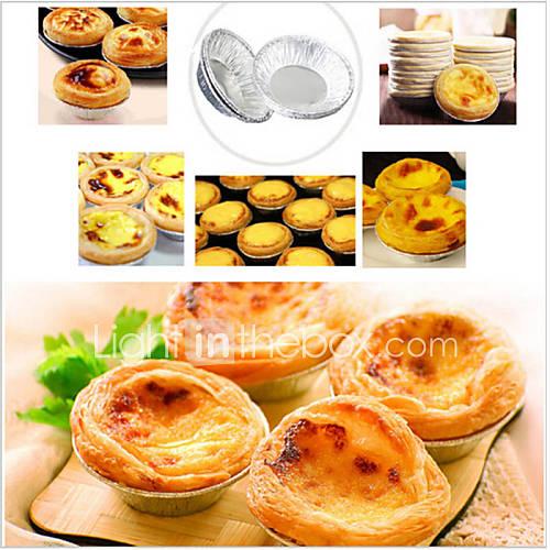 Disposable Aluminum Foil Cups Baking Bake Muffin Cupcake Tin Mold RoundSet of 50