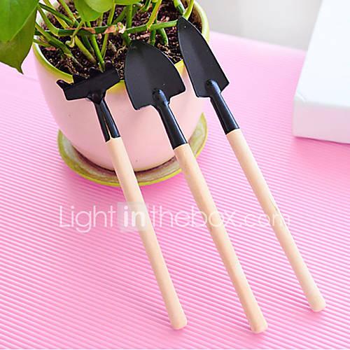 3pcs Mini Gardening Tools Suit Family Pot Tools/raketroweltransplanter