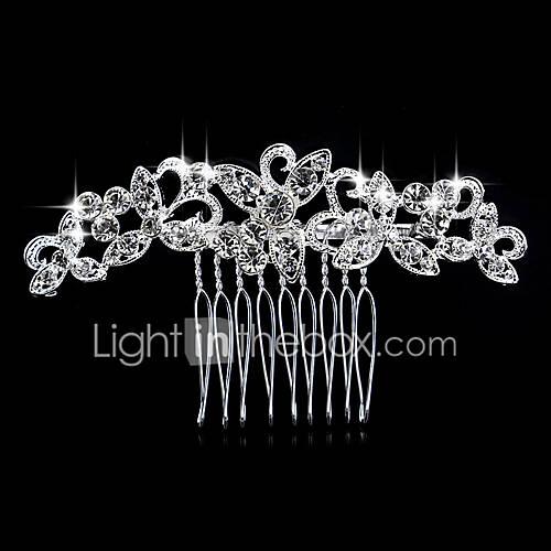 Peinetas de perlas de cristal de