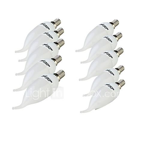 10PCS YouOKLight  E14 3W CRI=70 200lm 8-SMD2835 Warm White Light Cool White Light LED Candle Bulbs(220~240V)