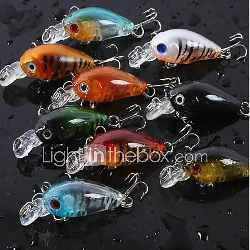 4.5cm 4g/pcs Fishing Lures Crank Bait Crankbait Tackle Swim Bait Wobblers Fishing Hard Crazy Fish Lure 8 PC/set