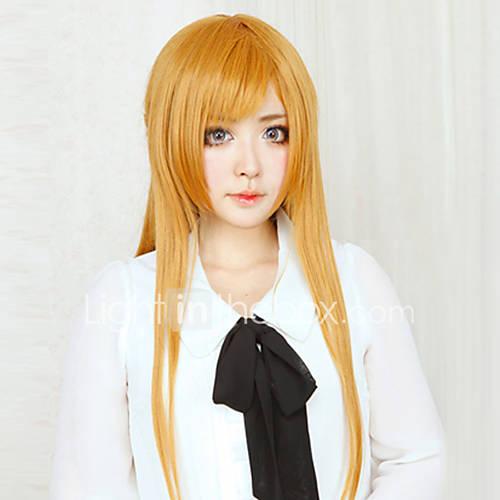 Cosplay Wigs Sword Art Online Asuna Yuuki Anime Cosplay Wigs 80 CM Heat Resistant Fiber Women's