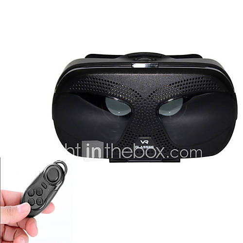 "VR BOX Virtual Reality 3D Glasses  BT Controller for 3.5~6.0"" Phones - Black"