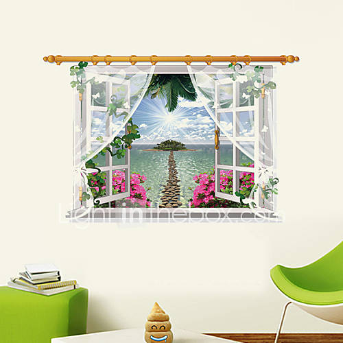 3D Wall Stickers Wall Decals Style Seascape PVC Wall Stickers