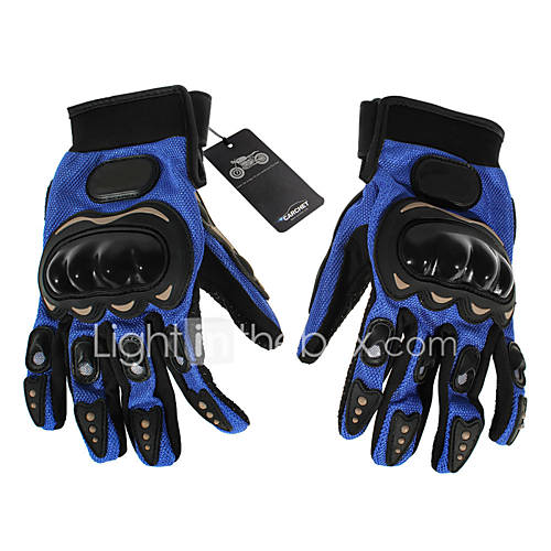Pair Cycling Bicycle Motorcycle Outdoors Sports Full Finger Gloves Blue XL