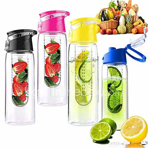 800ml Cycling Sport Fruit Infusing Infuser Water Lemon Cup Juice Bicycle Health Eco-Friendly(Random color)