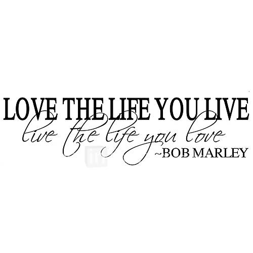 Wall Stickers Wall Decals Style Love The Life English Words  Quotes PVC Wall Stickers