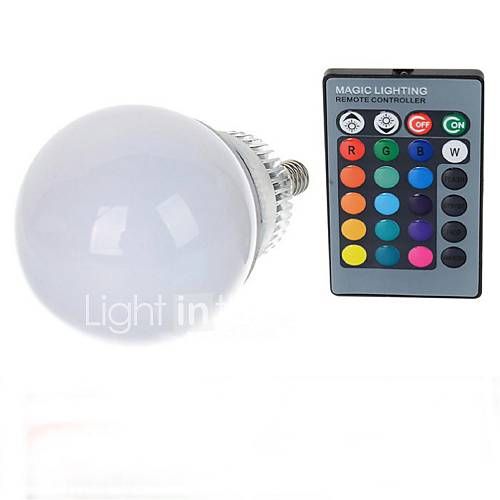 10 W E14 LED Globe Bulbs A70 1 LED Beads High Power LED Remote-Controlled RGB 85-265 V / 1 pc