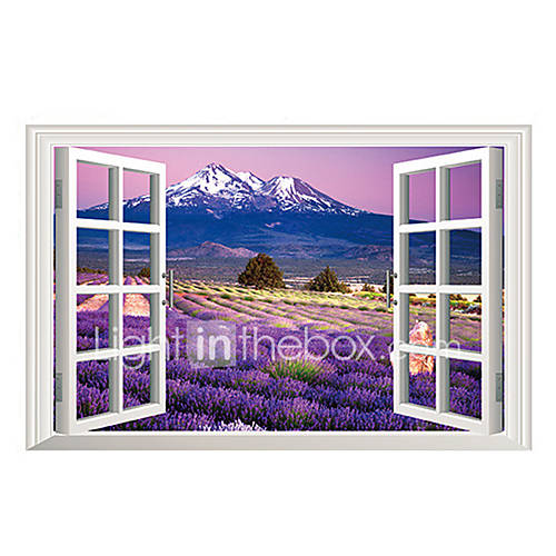 3D Wall Stickers Wall Decals Style Lavender PVC Wall Stickers