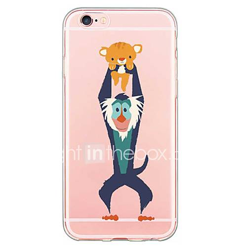 For iPhone 7 Back Cover Transparent Body / Ultra-thin Cartoon TPU Soft for iPhone SE/5s/5