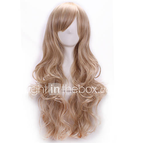 Synthetic Wig Body Wave With Bangs Side Part Blonde Women's Capless Carnival Wig Halloween Wig Long Synthetic Hair