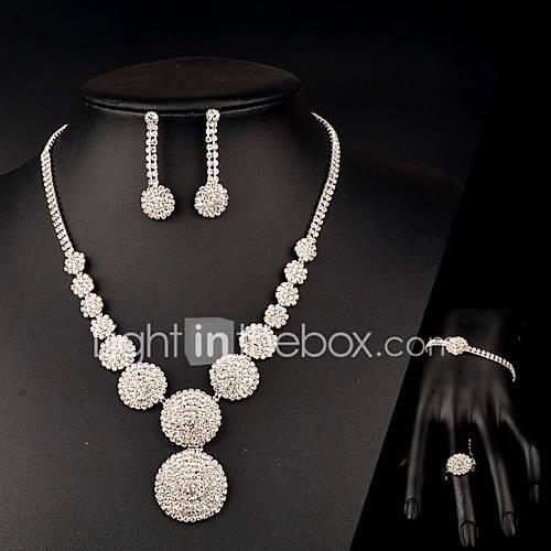 Jewelry Set Women's Anniversary / Wedding / Birthday / Gift / Party / Special Occasion Jewelry Sets Rhinestone CrystalBracelets / Rings /