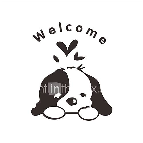 Wall Stickers Wall Decals Style Cartoon Cute Dog PVC Wall Stickers