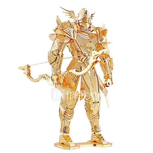 Jigsaw Puzzles 3D Puzzles / Metal Puzzles Building Blocks DIY Toys Warrior Metal Gold Model  Building Toy