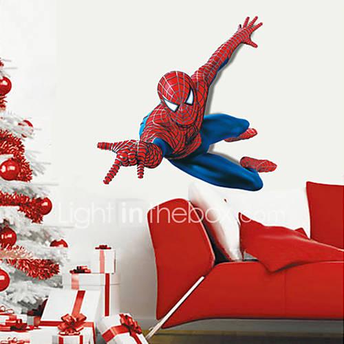 Superhero Spider-Man Wall Stickers Cartoon Children's Room Bedroom Wall Art PVC Wall Decals