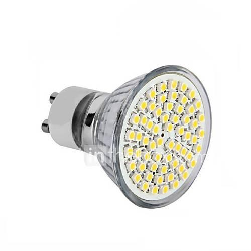 3W GU10 LED Spotlight MR16 60 SMD 3528 240 lm Warm White AC 220-240 V 319533