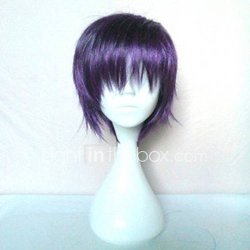 Popular  Purple Wig  Capless  Synthetic Wigs Straight Hair Wigs Short Wig Full Wig