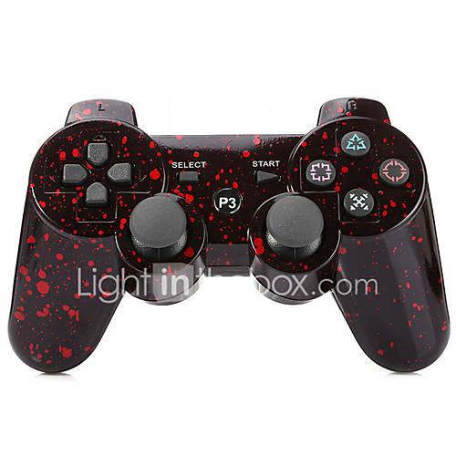 palanca de mando inalámbrico SIXAXIS DualShock3 bluetooth manchados recargable gamepad controlador para ps3 Descuento en Miniinthebox
