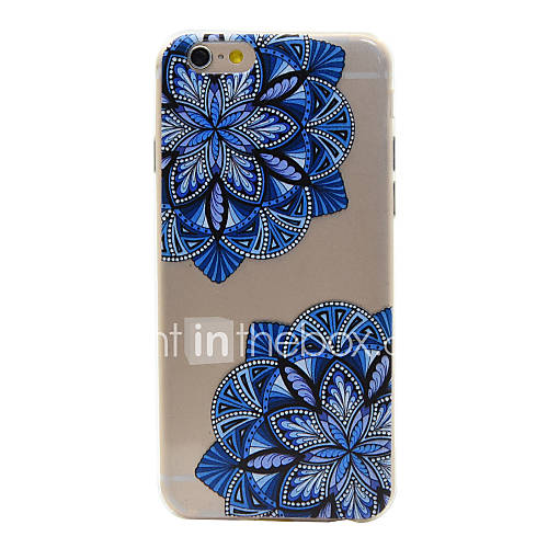 For iPhone 6 Case / iPhone 6 Plus Case Transparent / Pattern Case Back Cover Case Flower Soft TPU for iPhone 6s Plus/6 Plus / iPhone