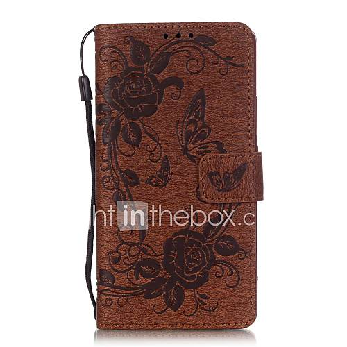 Case For Huawei P9 Lite / Huawei P9 Lite / Huawei Case Wallet / Card Holder / with Stand Full Body Cases Flower Hard PU Leather for Huawei P9 Lite / Huawei