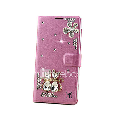 Case For Samsung Galaxy Samsung Galaxy Case Card Holder Rhinestone with Stand Flip Magnetic Full Body Cases 3D Cartoon Hard PC for
