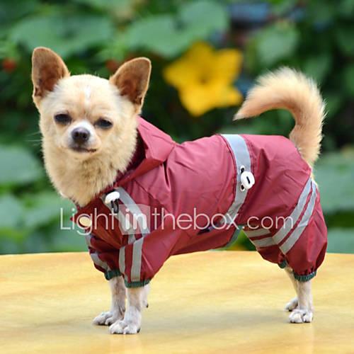 honden-regenjas-rood-geel-groen-hondenkleding-zomer-lente-herfst-effen-waterdicht