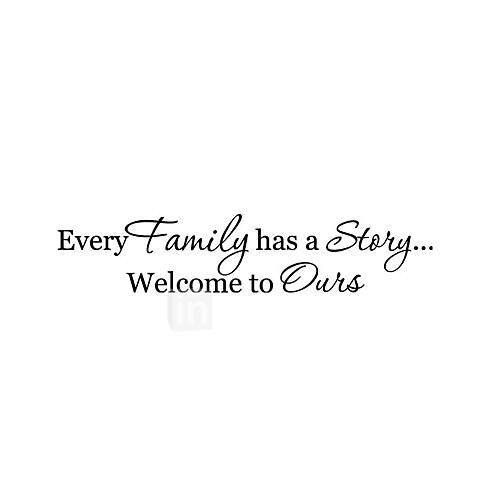 Wall Stickers Wall Decals Style Famiyl English Words  Quotes PVC Wall Stickers