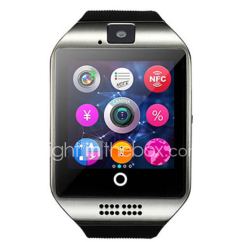 q18 reloj inteligente con la cámara de la pantalla táctil para el teléfono Android y iOS Descuento en Miniinthebox