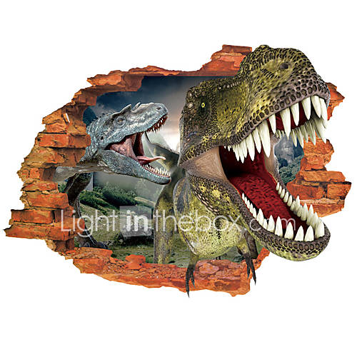 3D Wall Stickers Wall Decals Style Dinosaur Cartoon PVC Wall Stickers