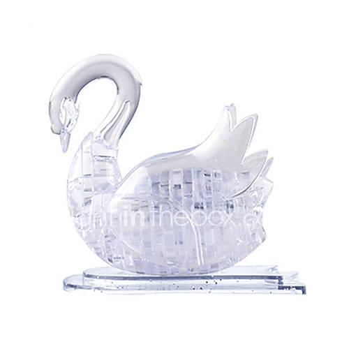 3D Puzzles / Crystal Puzzles For Gift  Building Blocks Model  Building Toy Swan ABS Below 3 Transparent Toys