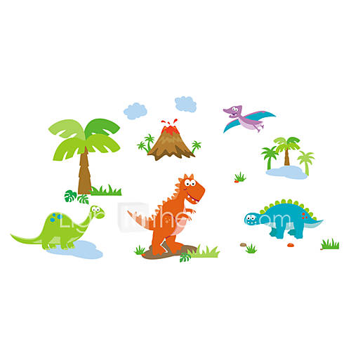 9044-y Cartoon Wall Stickers for Kids VINYL Material Removable Animals Stickers Home Decor Wall Decal