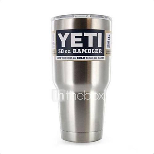 Hot Bilayer Stainless Steel Insulation Cup 30 OZ YETI Cups Cars Beer Mug Large Capacity Mug Tumblerful