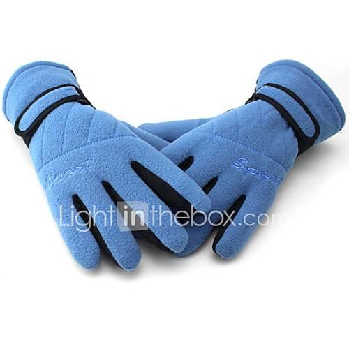 Motorcycle Fleece Gloves Slip Fleece Gloves Warm Gloves Longer Thicker Anti-UV Breathable Wear Non-Slip Earthquake
