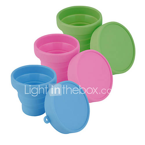 Portable Silicone Retractable Folding Water Cup Outdoor Travel Telescopic Collapsible Soft Drinking Cup(Random Color)