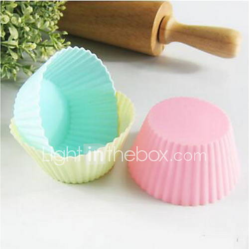Silicone Mold Cake Cup Cake Baking Tools Diy Muffin Cups 7Cm Round 20Pcs
