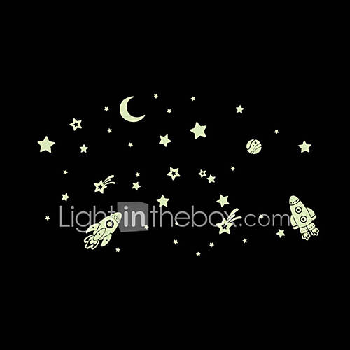 Luminous Wall Stickers Wall Decals Style Airship PVC Wall Stickers