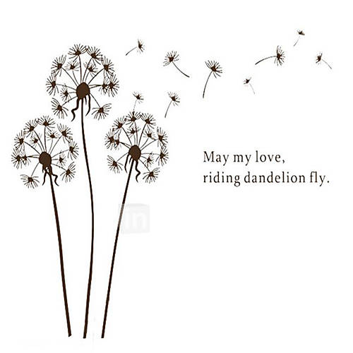DIY Dandelion Wall Sticker Decal Mural Home Room Decor Wallpaper Poster Wall Sticker