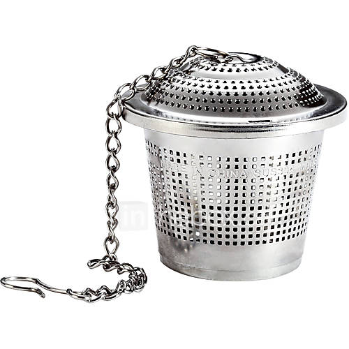 OakTea Strainer 304 Food Grade Stainless Steel Tea Strainer with Lid Tea Filter for Tea Cup Mug and Teapot Large Size