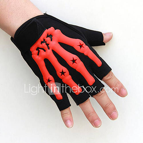 A New Fluorescence Motorcycle Bicycle Sunscreen Half Gloves Ghost Claw Tactical Outdoor Sports Fitness Cycling Gloves
