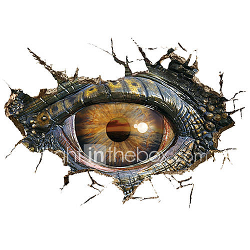3D Wall Stickers Wall Decals Style Dinosaur Eye PVC Wall Stickers