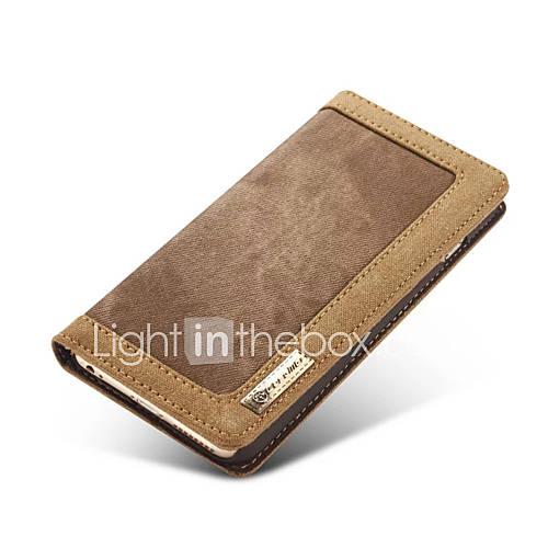 Pour Coque iPhone 6 Coques iPhone 6 Plus Portefeuille Clapet Coque Coque Intégrale Coque Couleur Pleine Dur Vrai Cuir pour AppleiPhone 7