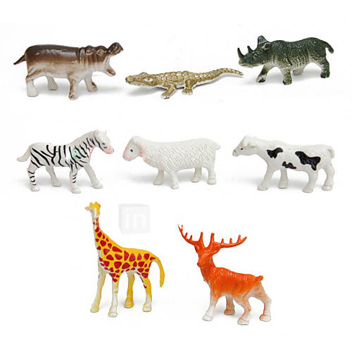 68pcs Animal Action Figures Set Modeling Toys Tigers Dinosaurs Lions
