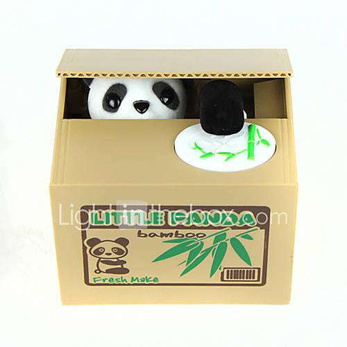 Itazura Coin Bank / Money Bank Coin Bank / Money Bank Stealing Coin Bank Saving Money Box Case Piggy Bank Toys Cute Electric Square Panda