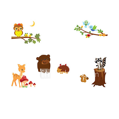 Animals Wall Stickers Plane Wall Stickers Decorative Wall Stickers Vinyl Home Decoration Wall Decal Wall Decoration
