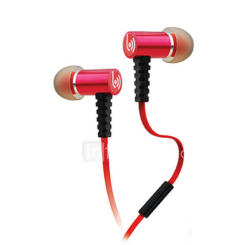 Beevo EM210 Headphone Sports Music Earphone High Sound Quality Stereo In-Ear Headset with Mic Retail Package 5206032