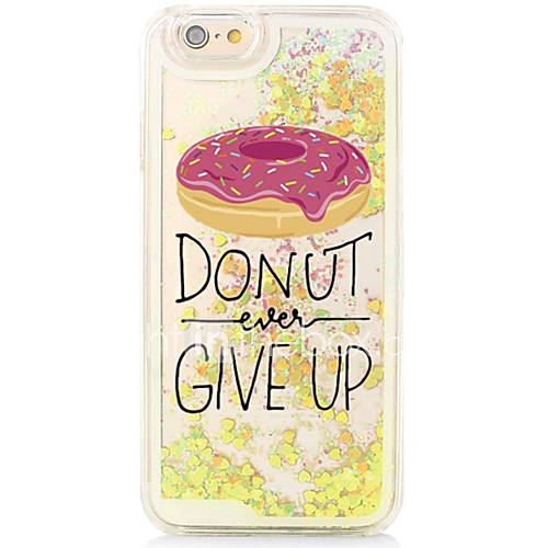 Word/Phrase Back Flowing Quicksand Liquid/Printing Pattern PC Hard Case For iPhone 6s Plus/6 Plus/6s/6/SE/5s/5