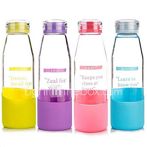 Transparent Color Portable Water Cup with Cover